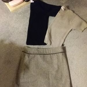 Dresses & Skirts - Euc..black and white fully lined MINI skirt and TO